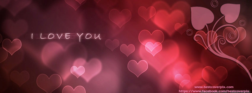 In love stylish and super cool heart shape facebook cover photo i love you fb covers altavistaventures Images