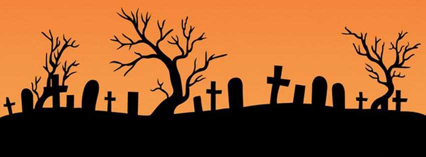 Simple Happy Halloween Timeline Cover Photo for Facebook