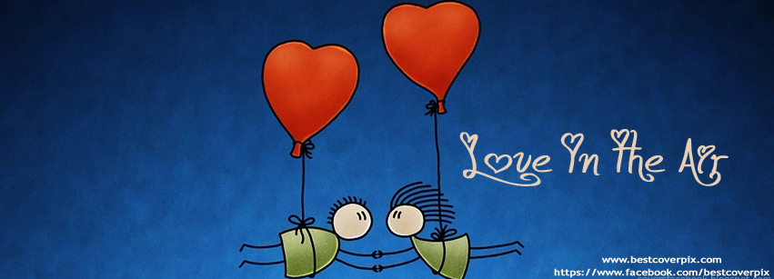 Funny Cartoon Love is in the Air FB Cover Picture