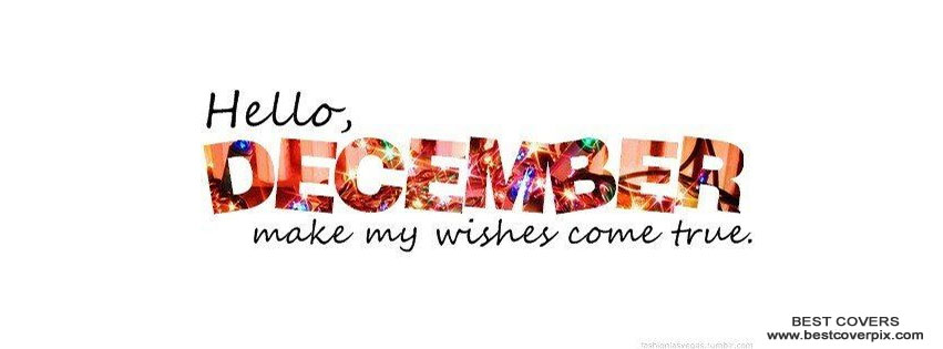 Hello December Facebook Wishes Cover