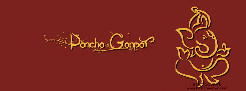 """ Pancha Ganpati 2015 "" Top FB Cover Photo"