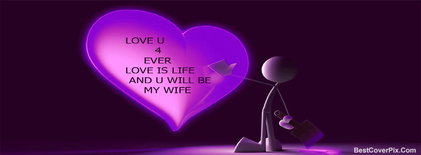Heart Shaped Facebook Cover Love