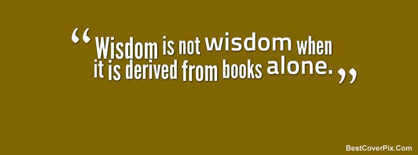 Wisdom Quotes Facebook Timeline Cover Photo