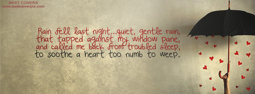 Best Rain Quote ! Facebook Timeline Cover Photo