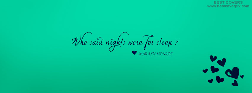 Sleeping Quote | Best FB Timeline Cover Photo