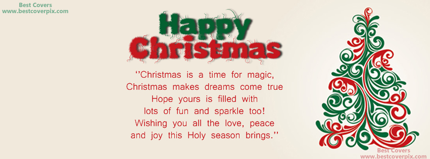 2018 Happy/Merry Christmas Facebook Covers, Wishes, Messages and Greetings