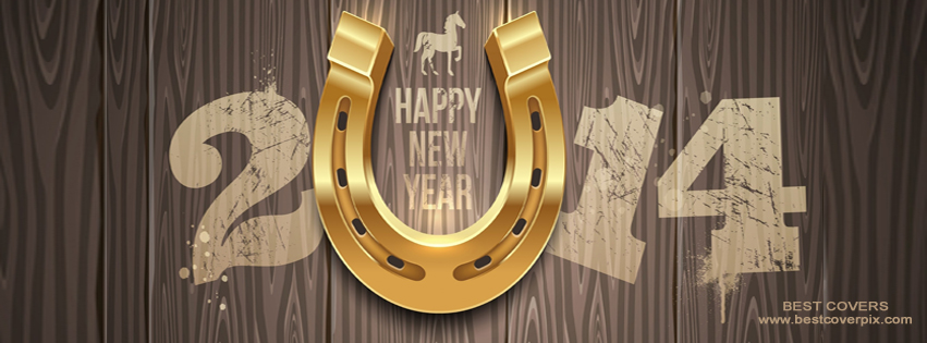 Wooden FB Cover For Happy New Year
