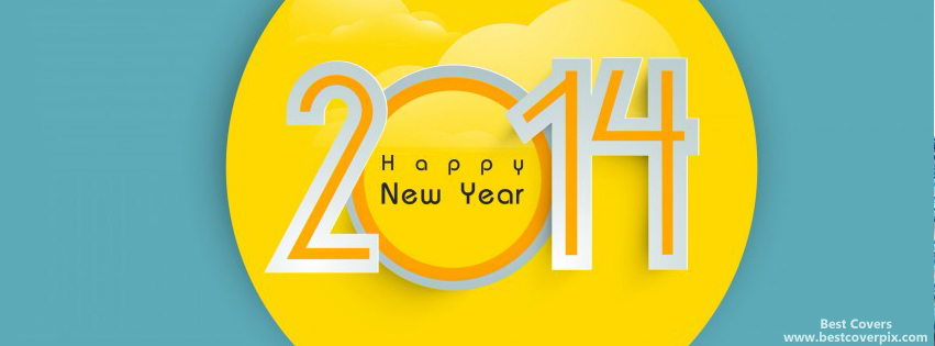 """ Happy New Year 2014 "" FB Cover"