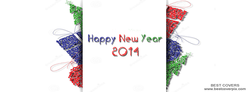 """ Happy New Year 2014 "" FB Profile Cover Photo"