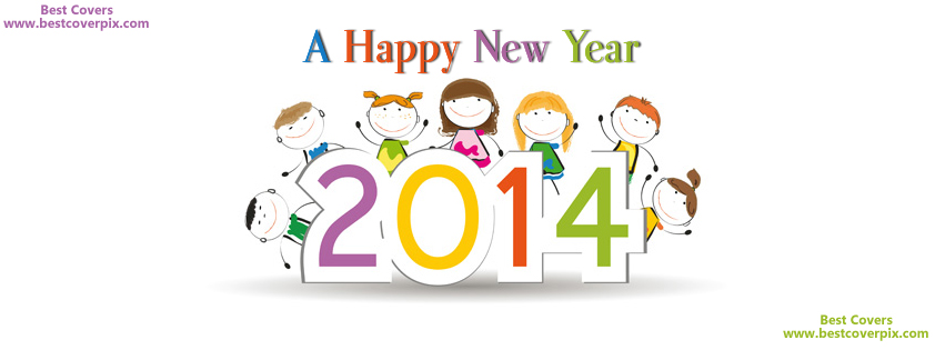 """ A Happy New Year 2014 "" fb Profile Timeline Cover Photo"