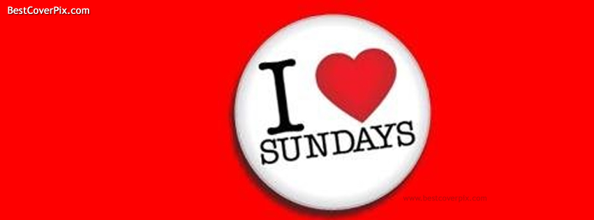 I Love Sundays | Best Red FB Timeline Cover Photo