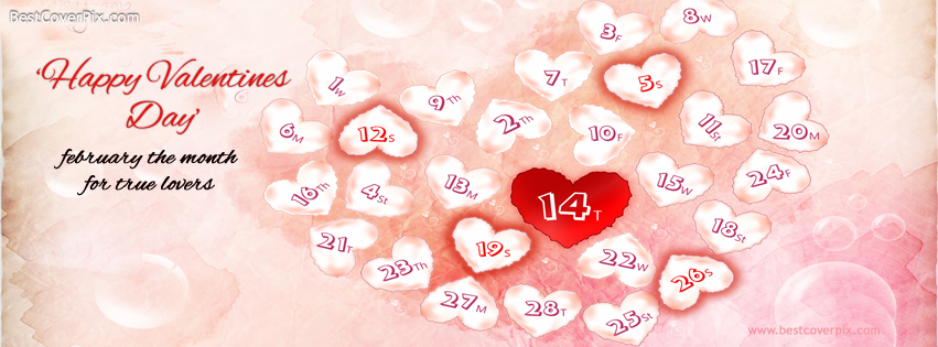 14 February A Happy Valentines Day Facebook Cover Photos