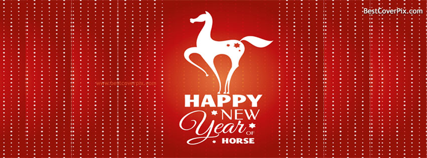 Happy New Year 2015 of Horse Facebook Timeline Covers