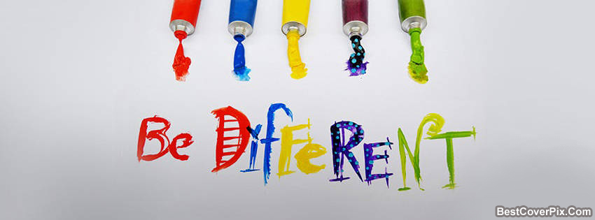 Be Different Colorful Facebook Cover