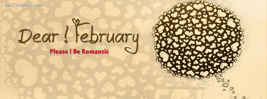 Dear ! February | Best Romantic Cover for Facebook Timeline