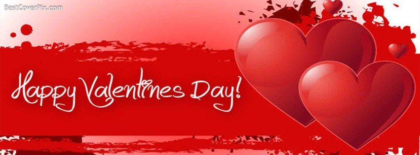 Red Heart Happy Valentines Day Facebook Covers