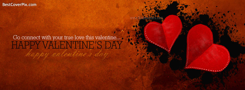 Happy Valentines Day Heart Best Profile Cover for Facebook
