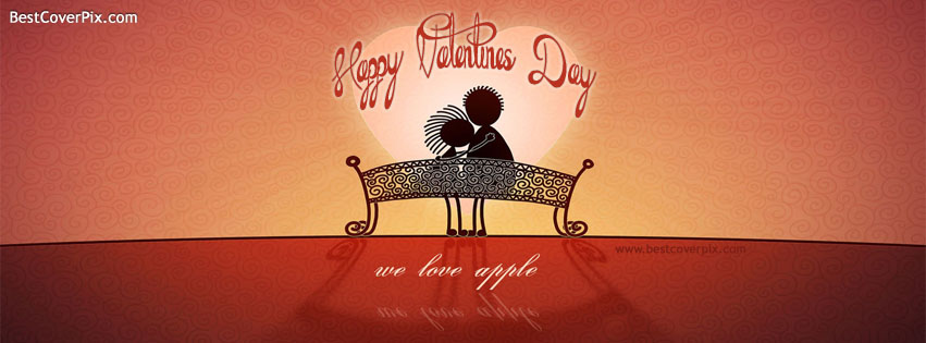 Valentines Day Covers for Facebook Timeline – Cute Couple Sitting on a Bench