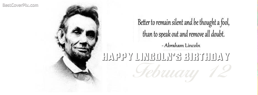 Happy Abraham Lincoln's Birthday , February 12 Facebook Cover Photo