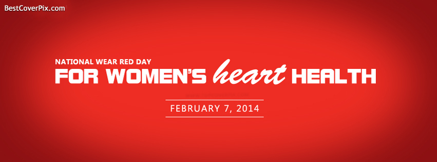National Wear Red Day 2014 Facebook Covers