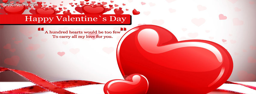 Red Heart Valentine Day Cover Photo