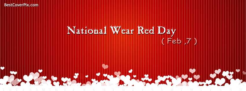 National Wear Red Day – Fight Heart Disease in Women Facebook Covers