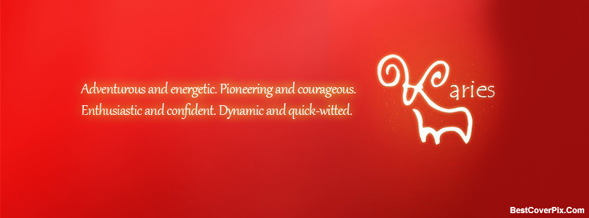 Aries Horoscope Facebook Timeline Covers – Zodiac Sign FB Photos