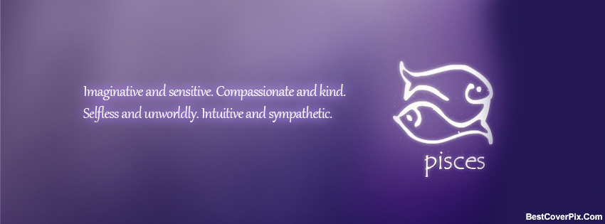 Pisces zodiac Facebook timeline Cover