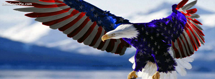 america eagle flag fb cover