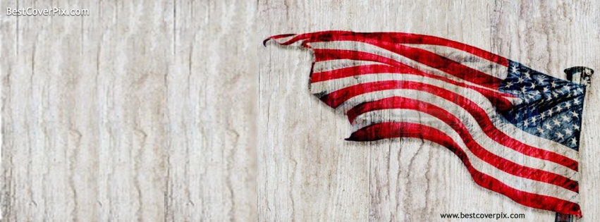 American Flag Texture Facebook Covers