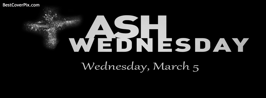 Ash Wednesday Facebook Cover Photo