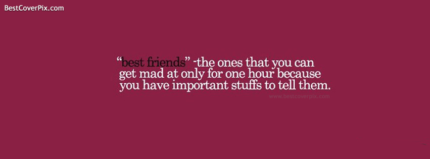 Best Friends Quote Facebook Cover Photo