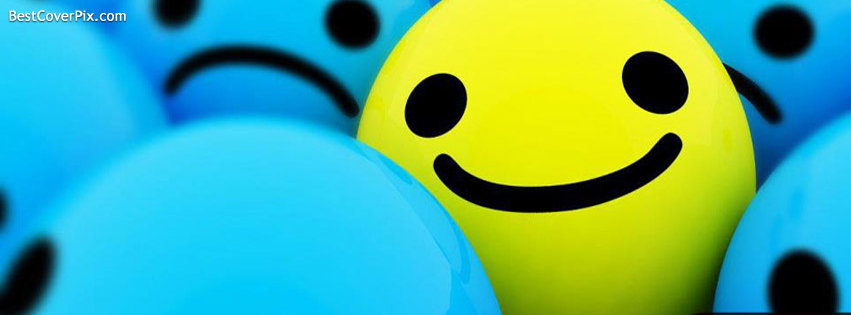 Blue Smileys Facebook Covers