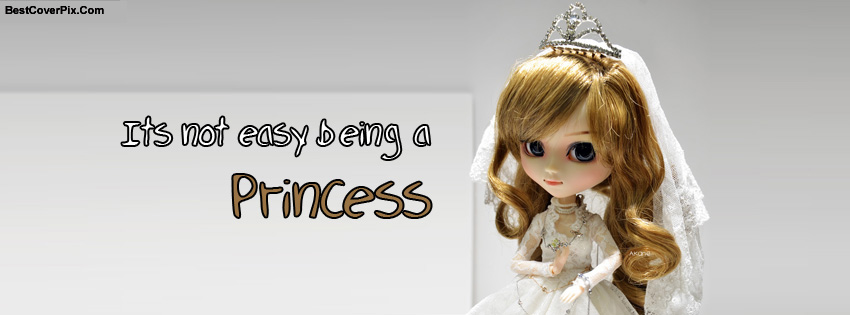 Cute Princess Doll Facebook Covers