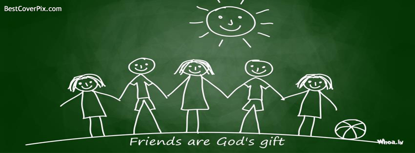 Friends are Gods gift . Facebook Cover for Happy Friendship Day 2014