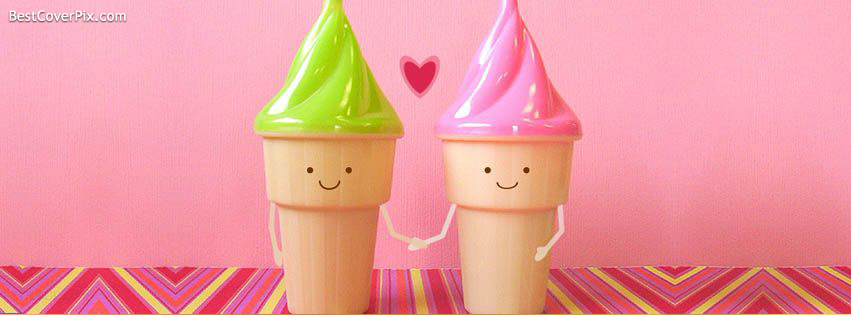 You are my Icecream Friends, Friendship Facebook Cover