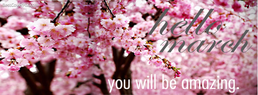 Hello March | Facebook Cover Photo