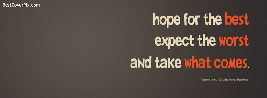 Hope Saying About Life Timeline fb Cover Photo