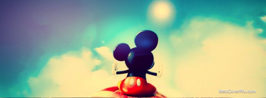 Micky Mouse . Cartoons Facebook Cover for Timeline