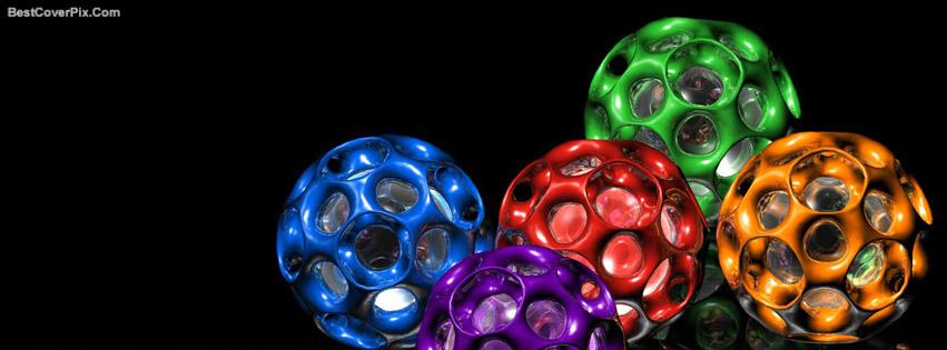 3D balls Facebook cover