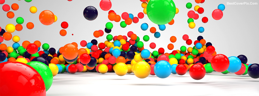 3D Colorful Balls Facebook Timeline Covers