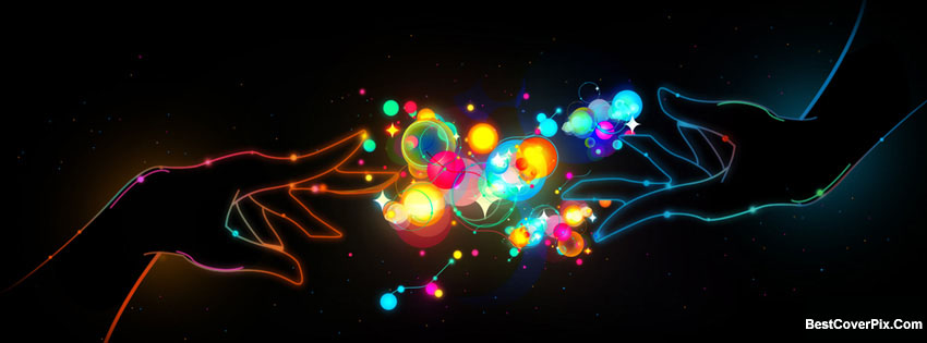 colorful love Facebook cover