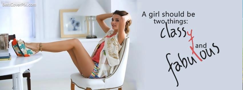classy girl fb cover
