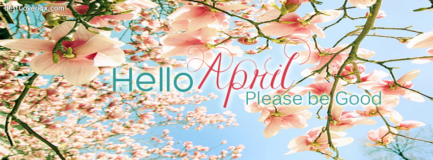 hello april fb cover photo