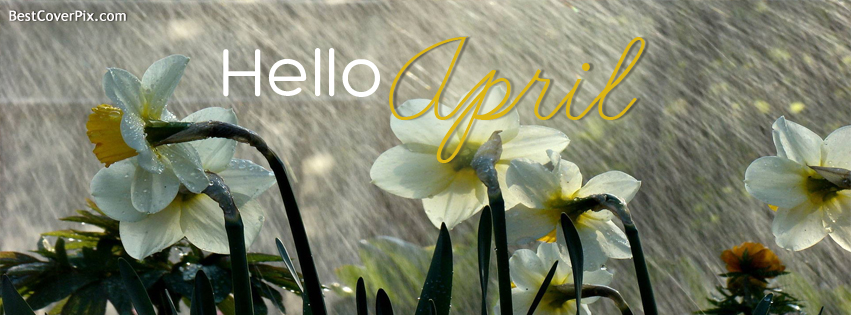 Hello April Facebook Cover Photo for Timeline