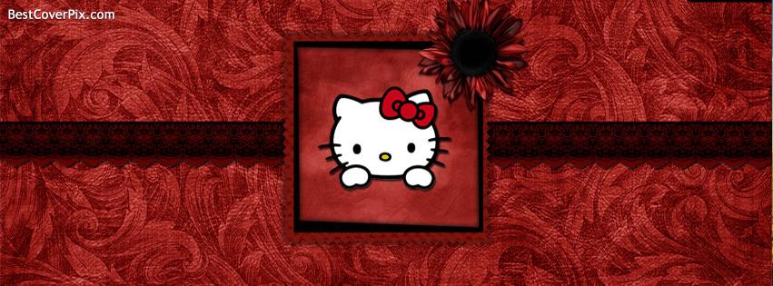 Hello Kitty Frame Facebook Cover