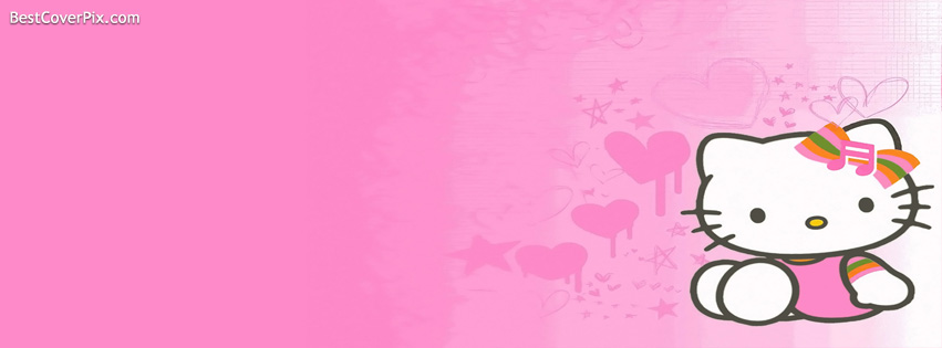 Pink Hello Kitty FB Cover photo