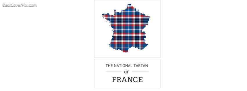 The national Tartan of France Facebook Cover Photo