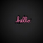 pink hello facebook cover