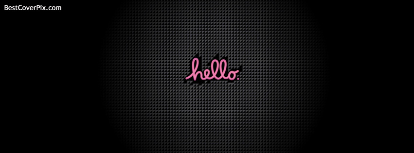 pink hello facebook cover